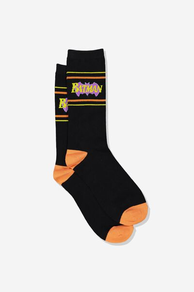 Mens Novelty Socks, LCN WB BATMAN BLACK
