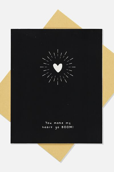 Love Card, HEART GO BOOM