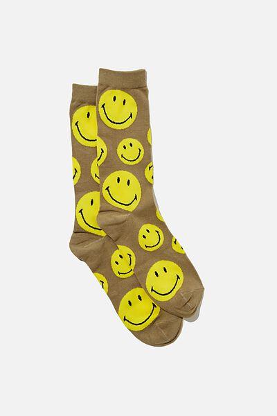 Socks, LCN SMI KHAKI FACES