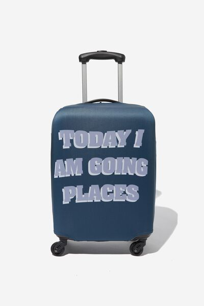 Suitcase Cover - Small, I AM GOING PLACES