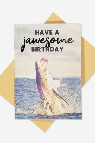 Funny Birthday Card, SMALL JAWSOME BIRTHDAY