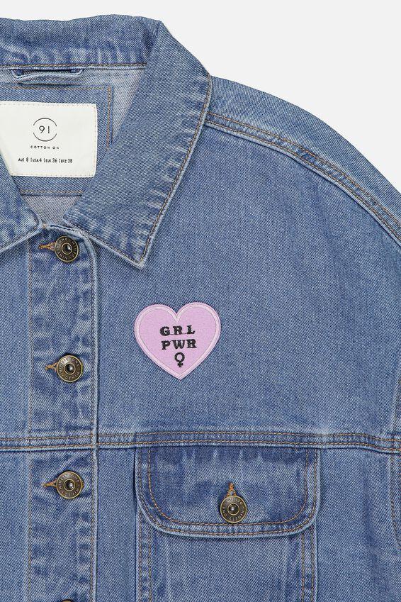 Fabric Badge, GIRL POWER
