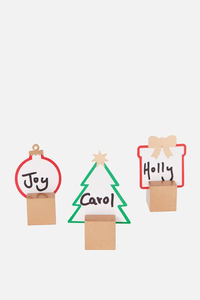 Name Cards & Holders, CHRISTMAS SHAPES
