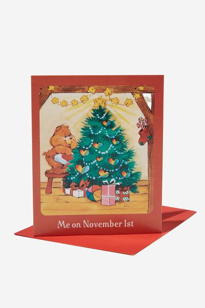 Christmas Card 2021, LCN CLC CARE BEARS CHRISTMAS TREE