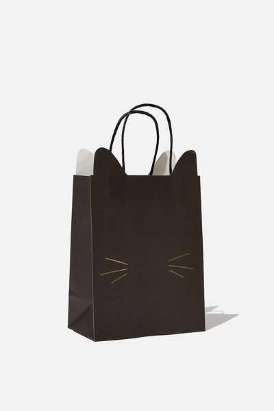 Novelty Stuff It Gift Bag Small, BLACK CAT FACE