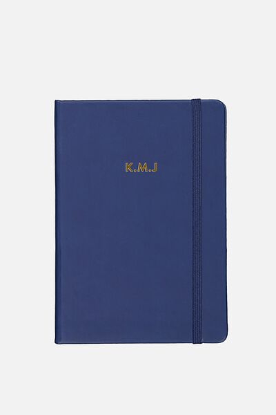 Personalised A5 Buffalo Journal, DARK BLUE