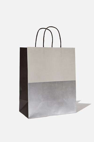 Get Stuffed Gift Bag - Medium, GREY SILVER SPLICE