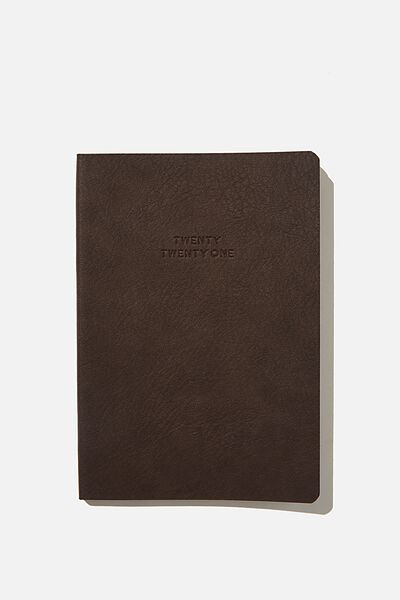 2021 Soft A5 Weekly Buffalo Diary, BITTER CHOC