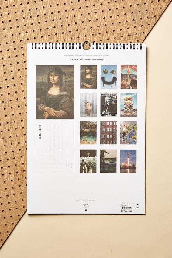 2021 A3 Art Series Calendar, MIXED MEDIA PARODY