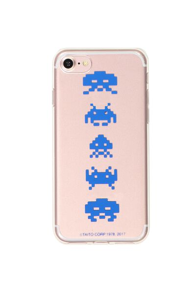 Transparent Phone Cover 7, 8, LCN SPACE INVADERS