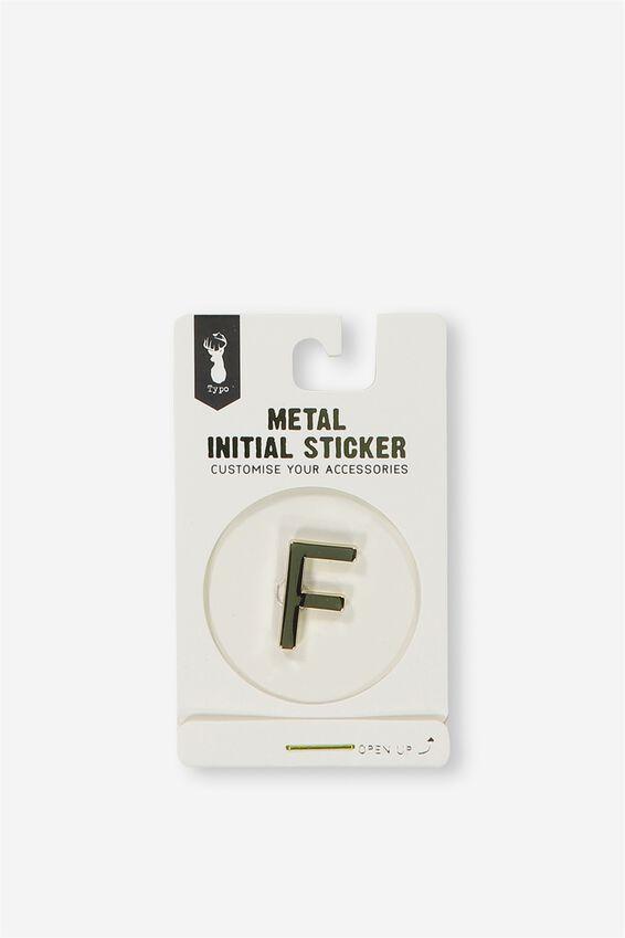 Metal Stickers, GOLD F