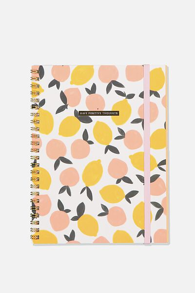 Small Spinout Notebook - V, POSITIVE THOUGHTS
