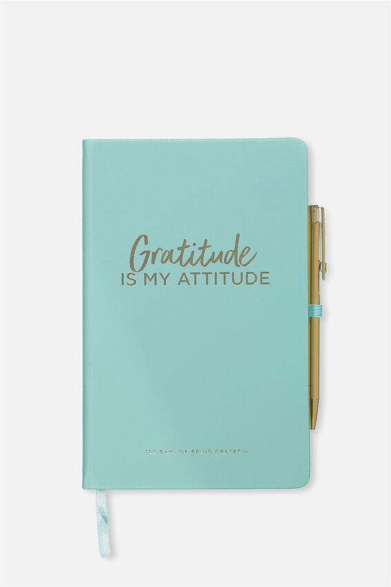 Boxed A5 Premium Activity Journal, BLUE GRATITUDE