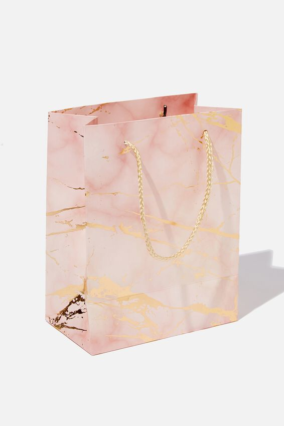 Stuff It Gift Bag - Small, MARBLE PINK GOLD