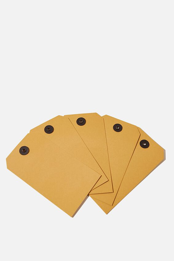 Gift Tag 5 Pack, MUSTARD