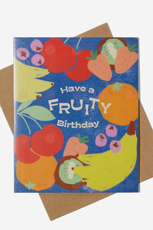 Premium Nice Birthday Card, SCENTED FRUITY BIRTHDAY