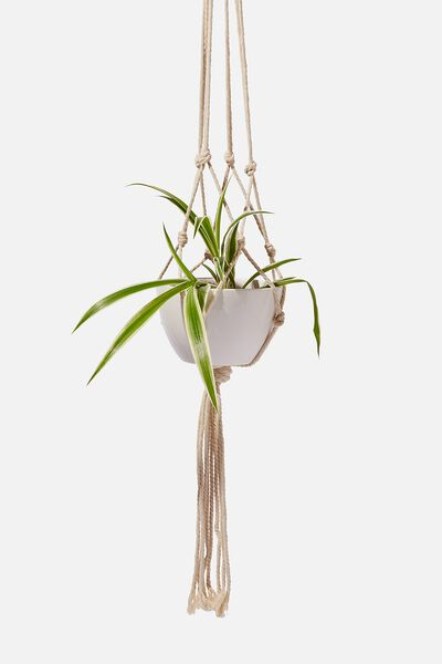 Diy Macrame Hanger With Pot, MACRAME ROPE & POT