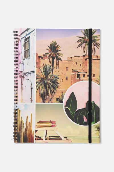 A4 Spinout Notebook Recycled, PASTEL TRAVEL