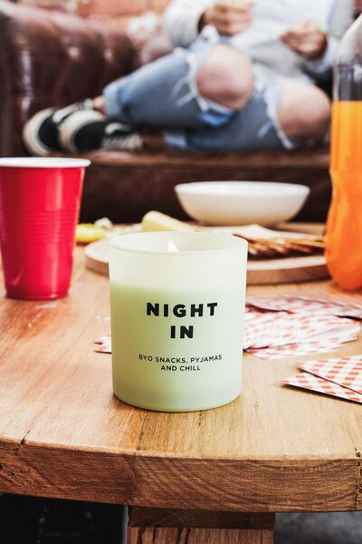 Solid Quote Candle, NIGHT IN
