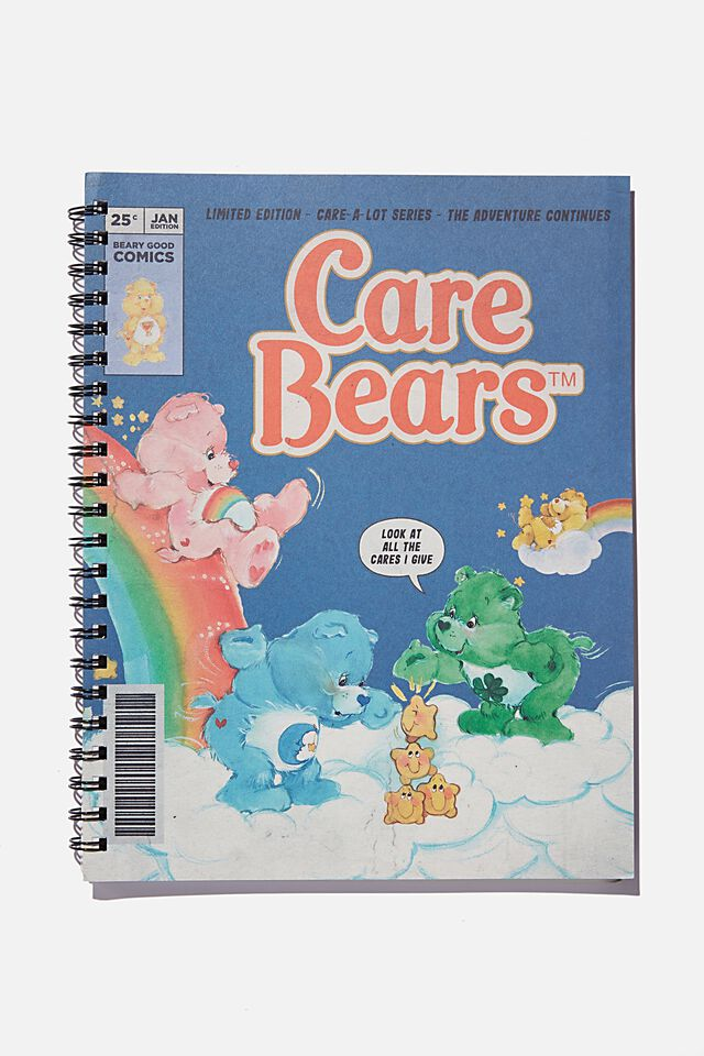 A4 Campus Notebook Recycled, LCN CLC CARE BEARS COMIC COVER