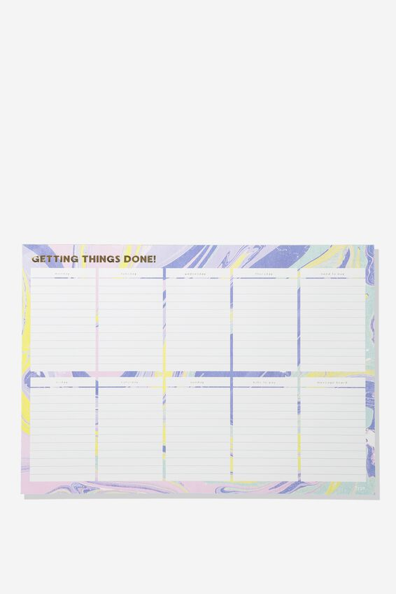 A3 Extra Large Plan Ahead Planner, PASTEL MARBLE