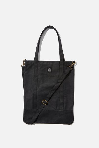 Book Tote Bag, WASHED BLACK