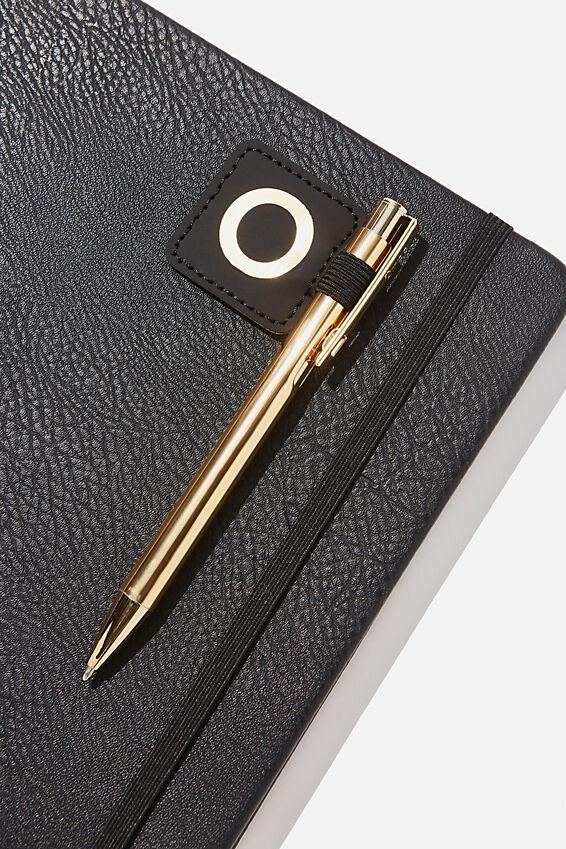 Pen Loop Sticker, BLACK O