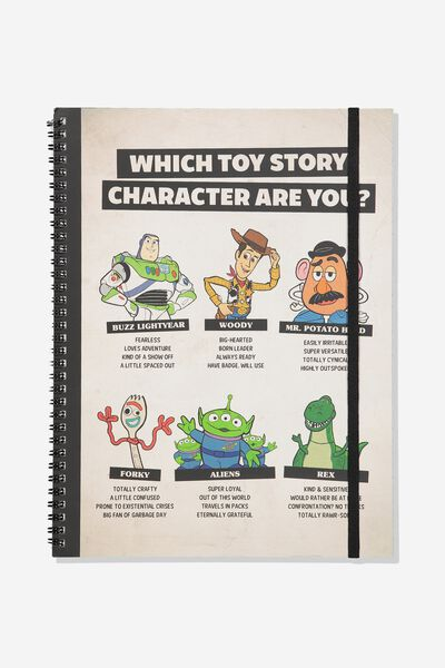A4 Spinout Notebook - 120 Pages, LCN DIS TOY STORY