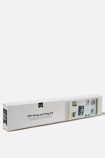 Hang & Peg Frame Kit, NATURAL WOOD AND ROPE