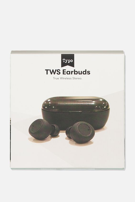 Tws Earbuds, MATTE BLACK