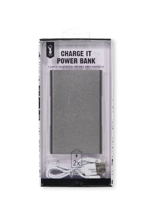 Charge It Power Bank, GRAPHITE