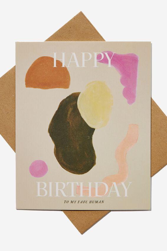 Nice Birthday Card, BIRTHDAY ABSTRACT SHAPES
