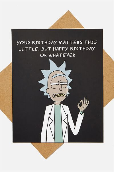 Funny Birthday Card, LCN CNW RICK BIRTHDAY OR WHATEVER
