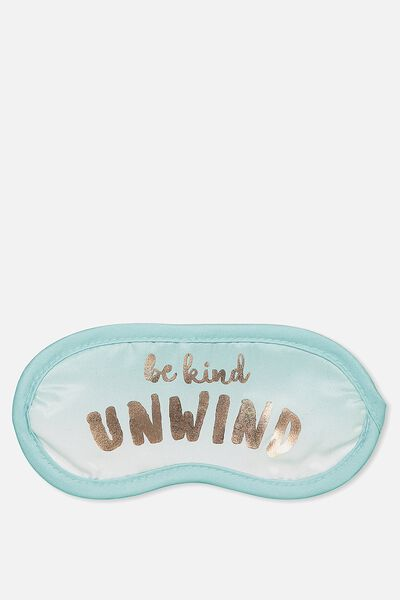 Easy On The Eye Sleep Mask, BE KIND UNWIND