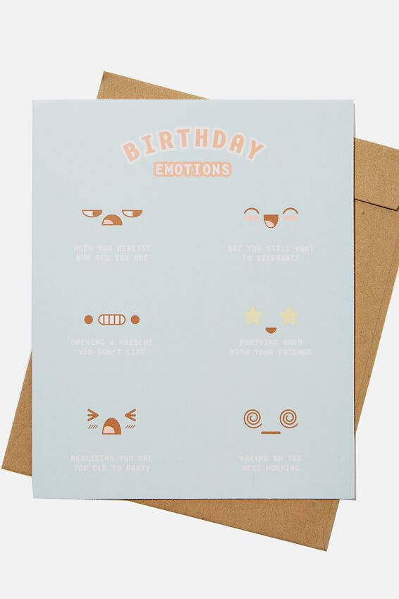 Nice Birthday Card, RG ASIA BIRTHDAY EMOTIONS