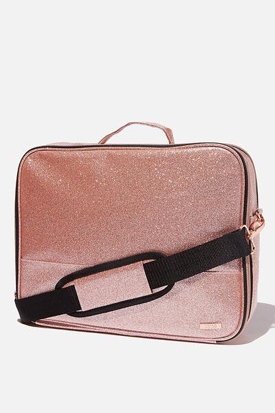 Mobile Laptop Folio, ROSE GOLD GLITTER
