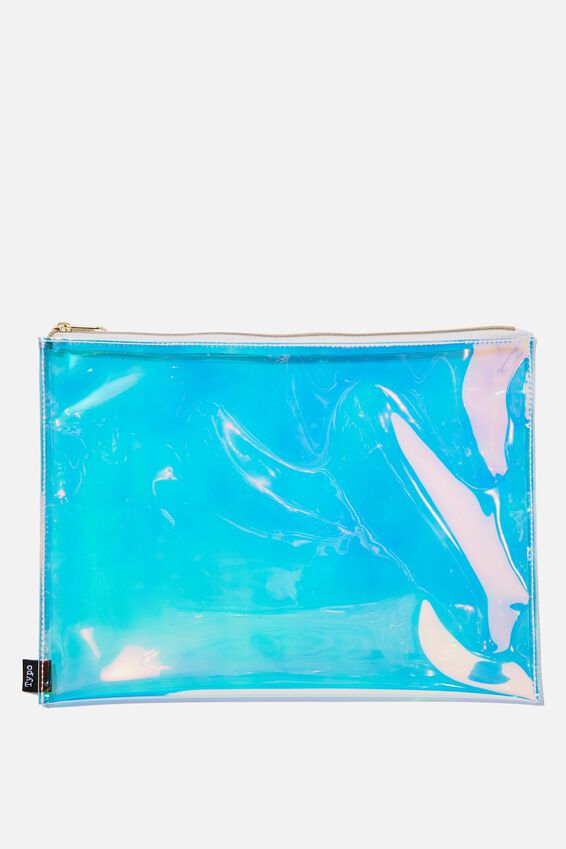 Pu Document Wallet, HOLOGRAPHIC