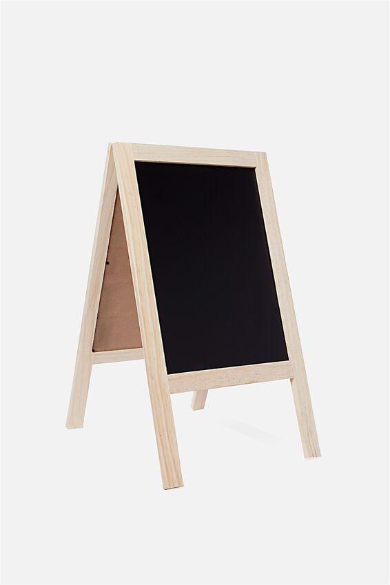 A3 Easel Chalkboard, NATURAL
