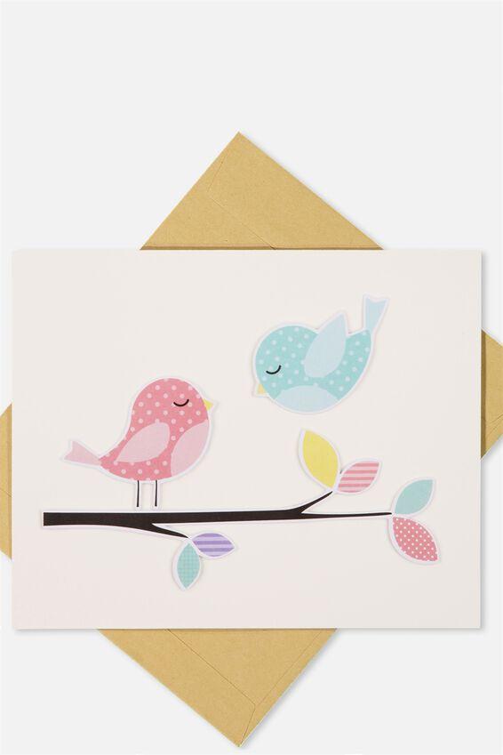 Embellishment Card, BL-BIRDY BRANCH