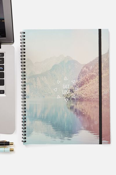 A4 Spinout Notebook - 120 Pages, MOUNTAIN GET LOST