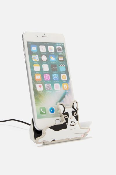 Novelty Phone Docking Station, FRENCH BULLDOG