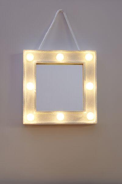 Mini Marquee Mirror, WHITE