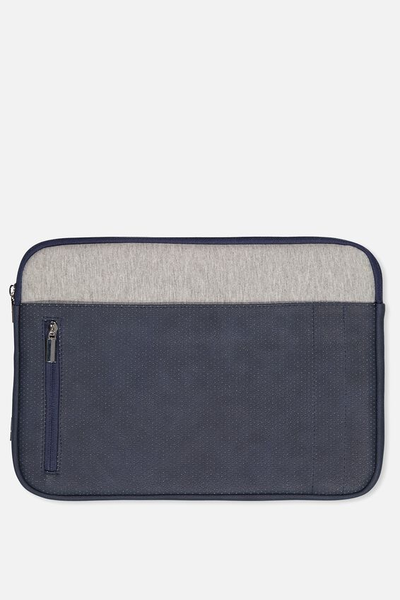 "Take Charge Laptop Cover 13"", NAVY & GREY"