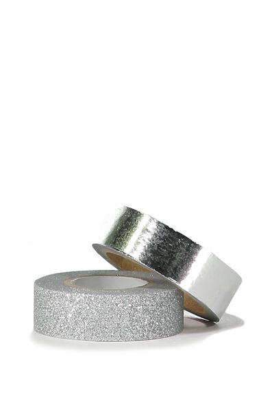 Twin Tape Pack, SILVER FOIL & SILVER GLITTER