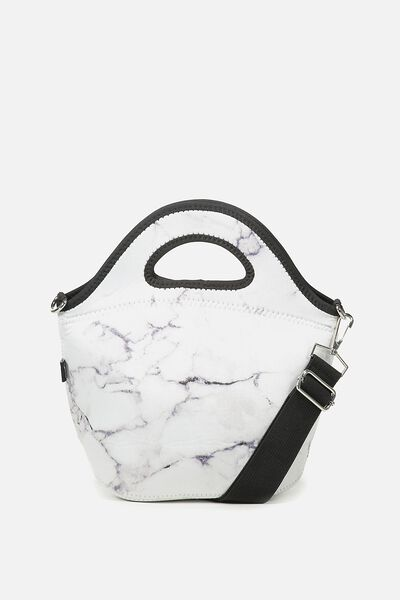 Neoprene Lunch Tote With Strap, MARBLE