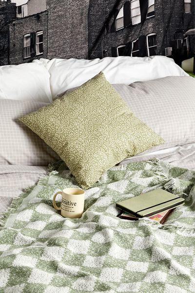 Square Cushion, GUM LEAF MEADOW DITSY