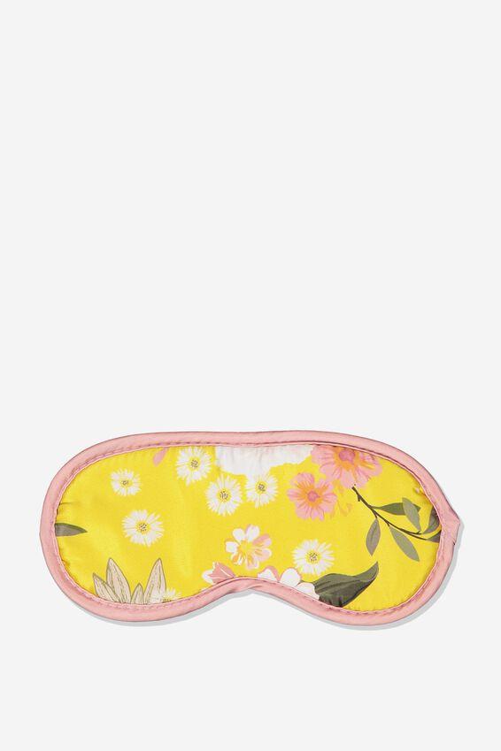 Premium Sleep Eye Mask, MUSTARD FLORAL