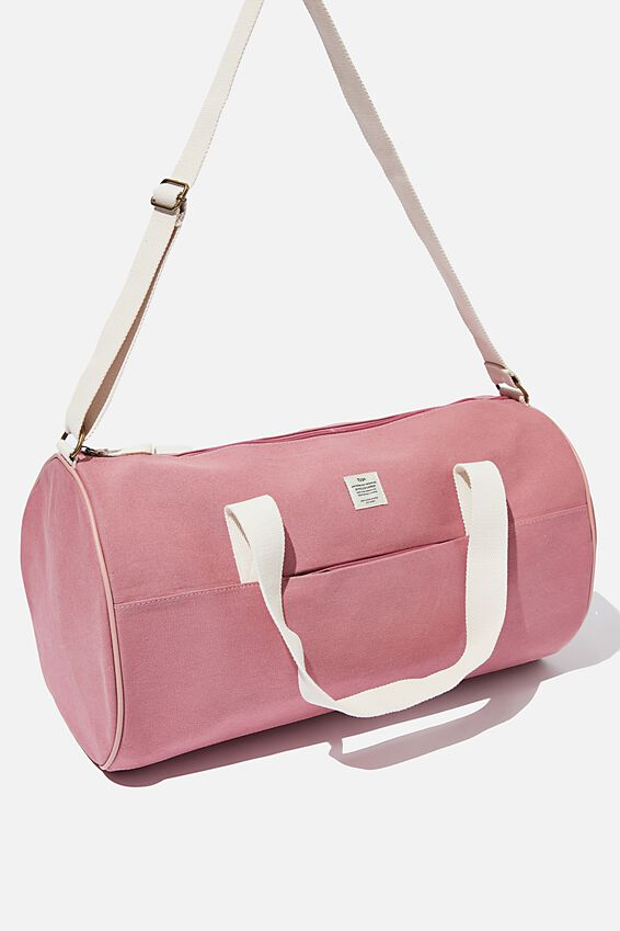 Canvas Barrel Bag, DUSTY ROSE