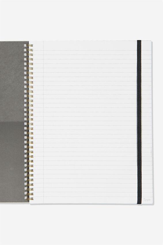 A4 Spinout Notebook Recycled, BOHO UNICORN