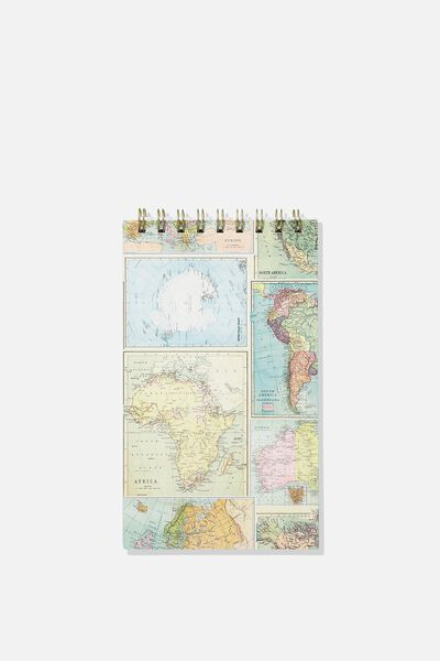 Flip Out Notepad 200Pgs, GRID MAP